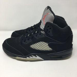 newest b1d03 bcbe9 Nike Air Jordan Retro V 5 OG Black Metallic Silver